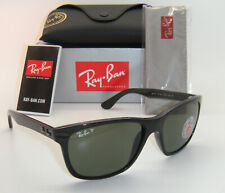 New Authentic Ray-Ban RB 4181 601/9A 57mm Shiny Black / Green Polarized