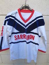 VINTAGE Maillot rugby SAA AUTERIVE XV scapulaire shirt ancien Pierre Casse L