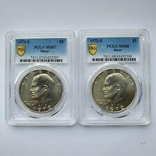 2x 1972 S Eisenhower $1 MS67 & MS68