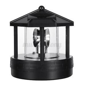Solar Powered LED Rotating Light Garden Yard Lawn Lamp Outdoor Lighting Decor