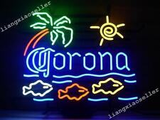 New CORONA EXTRA PALM TREE SUN MACAW FISH BEER BAR NEON SIGN LIGHT Free Shipping