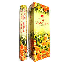 HEM ROSE VANILLA INCENSE STICK HEX TUBES 6 X PACKS 20 STICKS = 120 STICKS - 6149