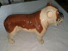 """8"""" Vtg Porcelain Old English Bulldog Dog Big 8"""" Figurine Beswick England"""
