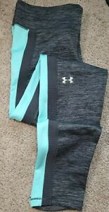 New! UNDER ARMOUR-Gray Poly/Spdx, Womens Athletic/Fitness Compression Tights-(M)