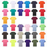 Mens Plain 100% Cotton T-shirt Blank Basic Adults Tee | Size S-3XL Plus SIze Hot