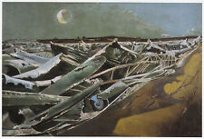 Totes Meer (Dead Sea), Paul Nash print in 10 x 12 mount ready to frame SUPERB