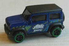 Majorette Suzuki Jimny GJ blau Nashorn Geländewagen Auto Car blue Rhinoceros blu
