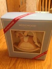 Wedgwood My First Christmas 2017 Baby Girl Ornament Pink Rocking Horse 1st