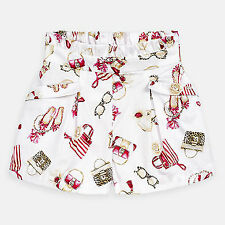 Girls Mayoral pattern shorts in strawberry and white