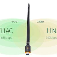 600/1200Mbp Usb3.0 Dual Band 2.4G/5G Wifi Adapter 802.11Ac Wireless Network~C KW