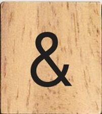 INDIVIDUAL WOOD SCRABBLE TILES! 8 FOR $2 OR 25 CENTS PER TILE SYMBOL AMPERSAND &
