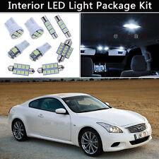 9PCS White LED Interior Lights Package kit Fit 2008-2014 Infiniti G37 Coupe J1