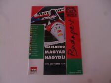MARLBORO MAGYAR HUNGARY NAGYDIJ BUDAPEST F1 FORMULA ONE 1992 PROGRAMME *AS PICS*
