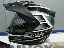 motorcycle helmet Uvex Enduro 3 in 1 Carbon Silver Shiny Size XL NEW