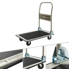 AREBOS Chariot à Plate-Forme Pliable Chariot de Transport Manuel 150kg