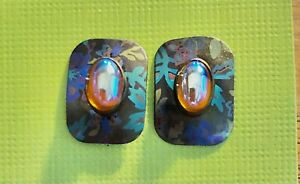 Colorful Vintage Holly Yashi post earrings