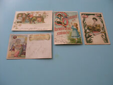 LOT DE 4 CARTES POSTALES  FANTAISIES