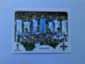 UK SELLER ONLY Panini World Cup 2018 - England Team Photo Pink Back Sticker VGC