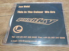 IAN VOID - Geushky: THIS IS THE COLOUR WE ARE !!!!!!!!!!! !!!RARE CD PROMO!!!!