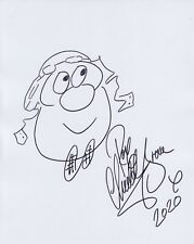 More details for roy chubby brown hand signed 8x10 sketch autograph comedian, royston vasey