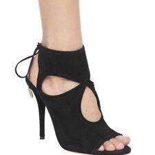 aquazzura sasha fringed suede heels size 42 Black Italy