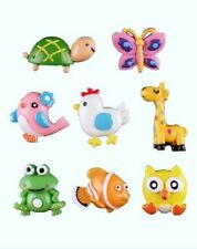 8 PC Animal Embelishments - Hairbows - Resin Flatback - Scrapbooking - Cards