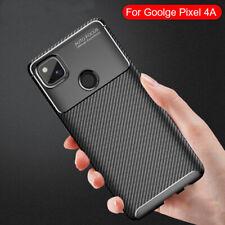For Google Pixel 4A 5G Case,Carbon Fiber Shockproof Slim Soft TPU Phone Cover