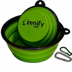Zenify Dog Bowl Food & Water Feeder 2 Pack - Extra Large 1000ml 17.8cm & Small 4