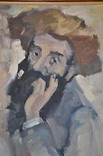 Original Oil Painting of Orthodox Jew by Israeli Artist Moshe M. Impressionism