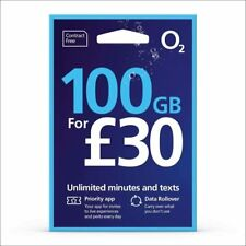 O2 02 sim card £30 bundle Data minutes Text NEW Bundle Pay as You Go NEW S