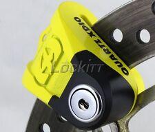 Oxford Quarts XD10 Motorcycle Brake Disc Lock -  Color Yellow Black LK267
