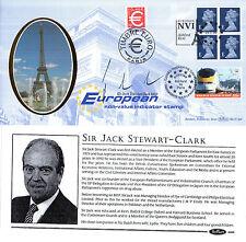 19 JANUARY 1999 NVI TREBLE STAMPED BENHAM FDC SIGNED JACK STEWART CLARK MEP SHSs