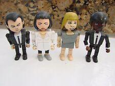 "PULP FICTION GEOMS Mia Jody Vince Jules 3"" block style Neca Miramax 2004 Figures"