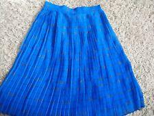 Sosandar Women Blue pleated Skirt Uk 8