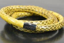 STORY by Kranz & Ziegler Armband Schlangenleder gelb 61cm Wickelarmband; K1 211