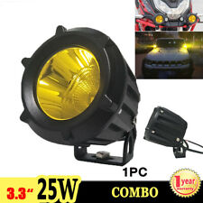 "1X 3.3"" 25W 3000K LED Work Light Combo Driving Fog Lamp Motorcycle Truck 4x4 ATV"