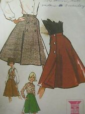 Vintage 60's McCall's 7015 WRAP-AROUND FLARED SKIRT Sewing Pattern Women Sz 14