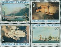 French Polynesia 1981 Sc#C187-C190,SG356-359 18th Century Paintings set MNH