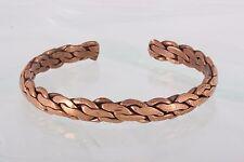 Bracelet Fashion 2589B Costume Copper Braided Cuff
