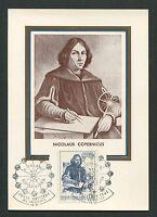 VATICAN MK 1973 KOPERNIKUS COPERNICUS COPERNIC MAXIMUMKARTE MAXIMUM CARD MC d971