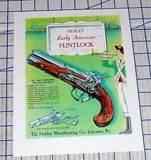 Hubley Early American Flintlock No. 280 1950s Cap Gun Single Sheet Reprint New