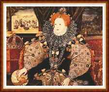 "'QUEEN ELIZABETH THE FIRST' Cross Stitch Chart (15¼""x12½"") Royalty/Tudor NEW"