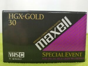 MAXELL HGX GOLD TC-20 VIDEO TAPES NEW  VHS C CAMCORDER  Special Event Grade
