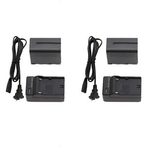 Falcon Eyes NP-F960F Battery x 2 with SP-CHG charger x 2