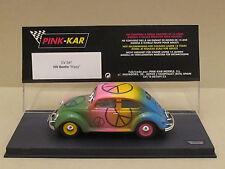 CV047 PINK-KAR Volkswagen VW BEETLE 60's Peace Sign Hippy Version 1:32 Slot Car