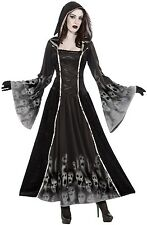 Ladies Full Length Hooded Soul Eater Halloween Fancy Dress Costume Outfit 10-14