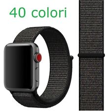 Cinturino loop in nylon per Apple Watch serie 1 2 3 4 5 6 SE 38 40 42 44 mm