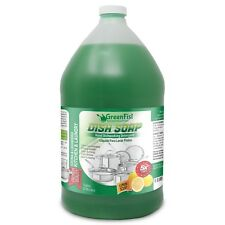 Green Hand Dish Soap Professional Kitchen Pot & Pan Wash Liquid Clean, 1 Gallon