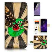 ( For Samsung S9 ) Wallet Case Cover P40246 Darts