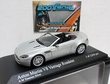 ASTON MARTIN V8 VANTAGE ROADSTER 2009 SILVER PLATA 1/43 MINICHAMPS